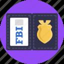 fbi, identification, id, id card, identity card icon