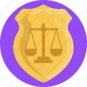law, and, order, legal, justice, badge