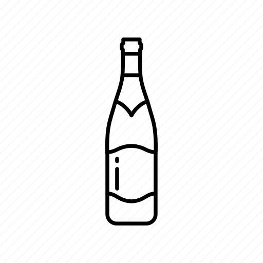 bottle, celebration, champagne, champagne bottle, new year's eve, sparkling wine, wine icon