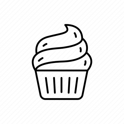 cake, candy, celebration, cupcake, gift, icing, sweets icon
