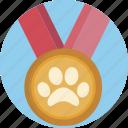pet, medal, award, prize, winner