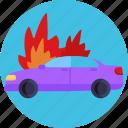 protest, burning car, strike, vandalism