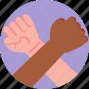 protest, protester, fist