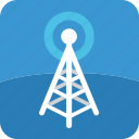 broadcast, radio, signal, television, tower, tv icon
