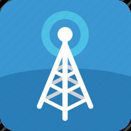 broadcast, radio, signal, television, tower, tv icon