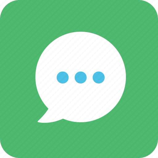 bubble, comment, sms, speak, speaking, texting, typing icon