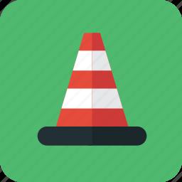 danger, dangerous, hazard, hazardous, traffic, traffic cone icon