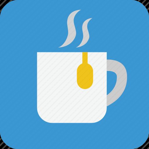 drink, hot drink, mug, mug of tea, tea, tea cup, teacup icon