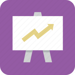chart, growing, growth, trend, trending, up, upward icon