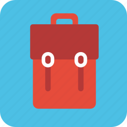backpack, bag, class, pack, school icon