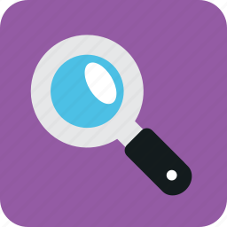 find, look, looking, magnifying glass, search, seek icon