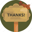 thanksgiving, thanks, sign, speech