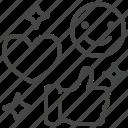 feedback, like, heart, thumbs, up, online