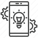 application, development, gears, mobile, phone, software