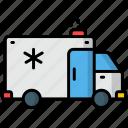 ambulance, emergency, rescue, treatment, alarm, first aid
