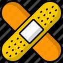 bandage, plaster, adhesive bandage, first aid, patch