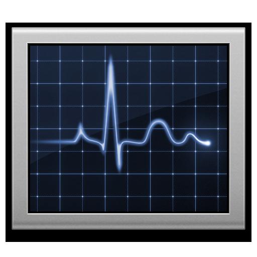 activity monitor, diagnostics, screen icon