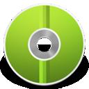 cd, disc, green icon