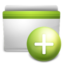 add, folder, green icon