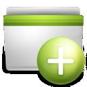 add, folder, green icon