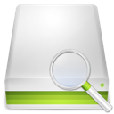 disk, hard, search icon