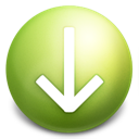 arrow, down, grey icon