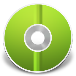 cd, disc, green icon
