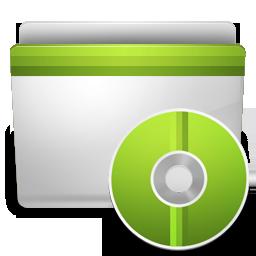 cd, folder icon