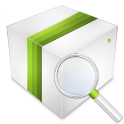box, product, search icon