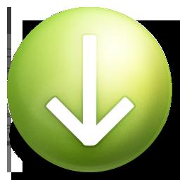arrow, down, grey icon
