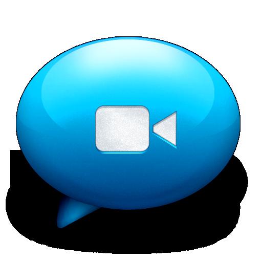 blue, ichat icon