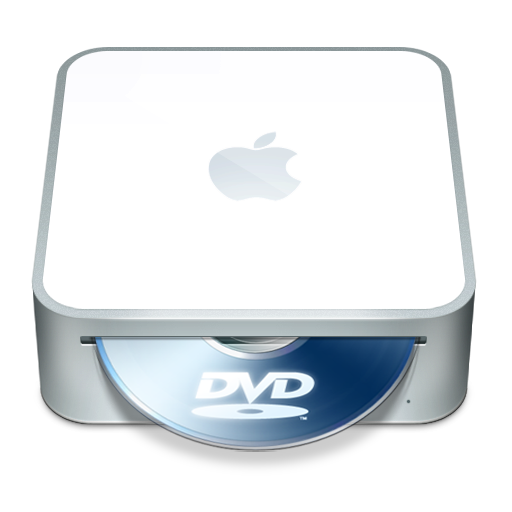 dvd, mac, mini icon
