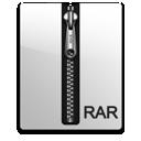 rar, silver icon