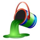 bucket, fill, green, paint icon