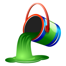 bucket, fill, green, paint icon