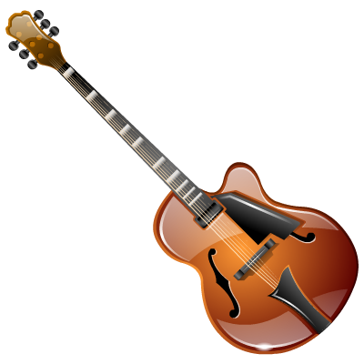 archtop, guitar icon
