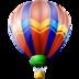 air, balloon, ballooning, hot icon