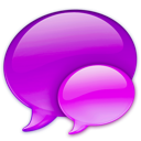 balloon, chat, pink, references, talk icon