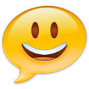 emoji, face, happy, ichat icon