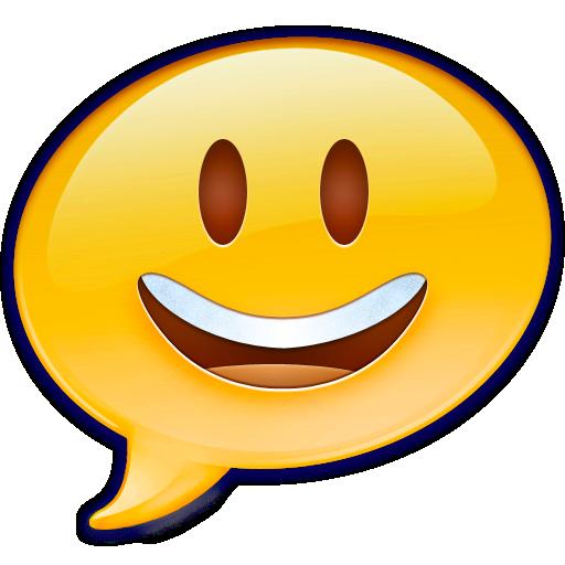 emoji, face, happy, ichat icon