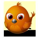 animal, bird, firebird, twitter icon