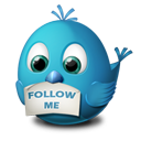 animal, bird, follow me, twitter icon