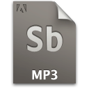 audio, document, file, mp3, sb, secondary icon