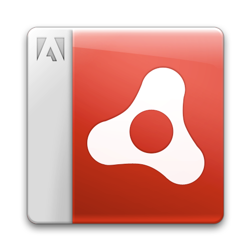 adobe, air, document, file icon