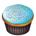blue, cake, food