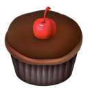 cake, cherry, chocolate, food icon