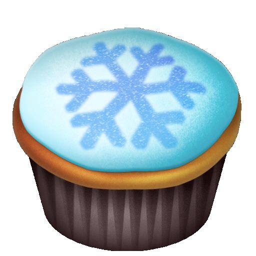 cake, food, snowflake icon