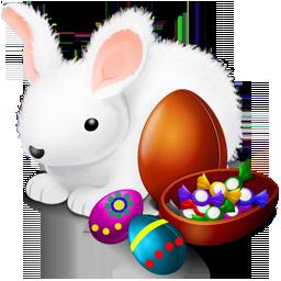 bunny, chokolate, easter icon