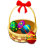 basket, easter, eggs, shops icon