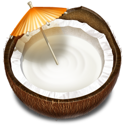 coconut, drink, fruit icon